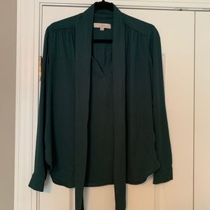 Loft Green Flowy Top
